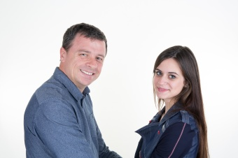 Father And Daughter Together isolated on white background
