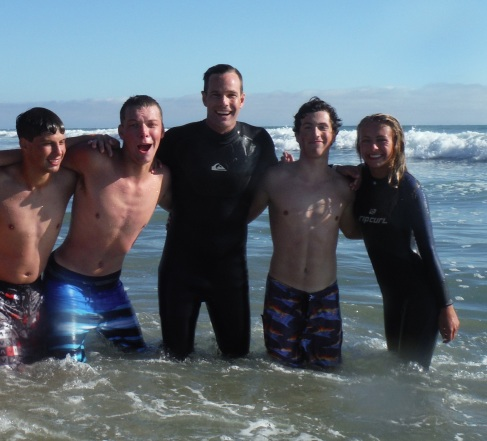 I love teaching friends how to surf!