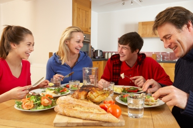 bigstock-Teenage-Family-Eating-Lunch-To-38602666-2